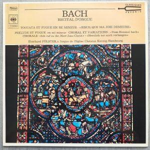 Bach - Récital d'orgue (33t) Vinyle