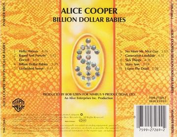 Alice Cooper – Billion Dollar Babies Album (CD)