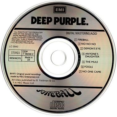 Deep Purple – Fireball Album (CD)