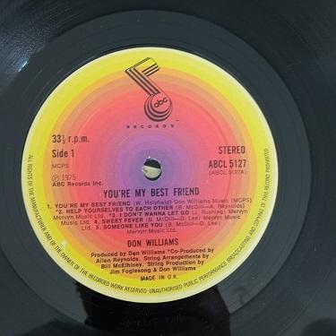 Don Williams – You're My Best Friend Lp 33t Vinyle
