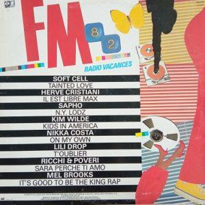 FM 82 Radio Vacances Lp 33t Compilation Vinyle
