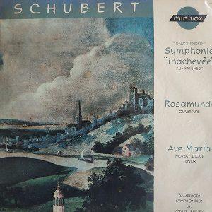 """Franz Schubert – Symphonie """"Inachevee"""" - Ouverture De Rosamunde - Ave Maria LP 78T Vinyle"""