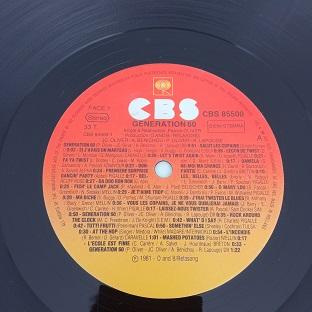 Generation 60 – Interprete 45 Hits Des Années 60 Lp 33t Vinyle