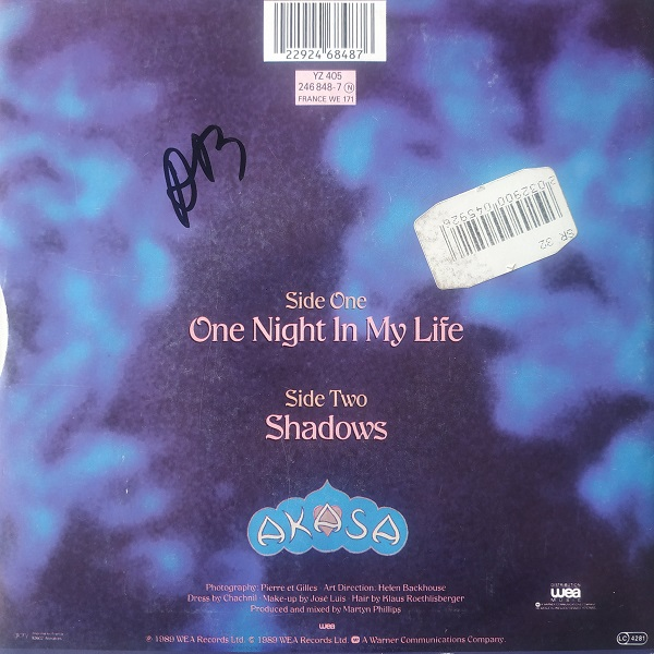 Akasa – One Night In My Life (45t) Vinyle