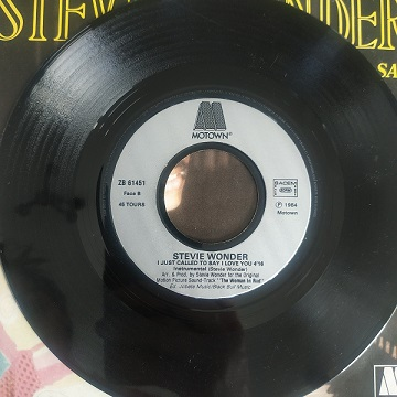Stevie Wonder – I Just Called To Say I Love You (45t) Vinyle