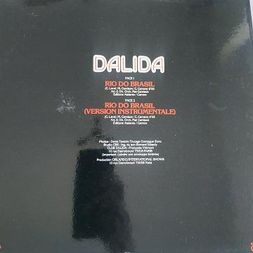 Dalida – Rio Do Brasil (Maxi45t) Vinyle