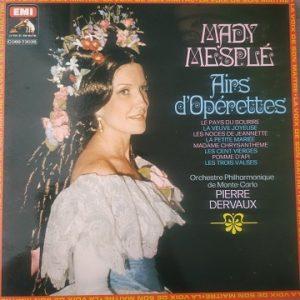 Mady Mesplé – Airs D'Opérettes (33t) Vinyle