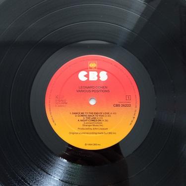 Leonard Cohen – Various Positions Lp 33t Vinyle