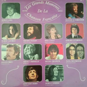 Les Grands Moments De La Chanson Française - Vol.1 33t Vinyle