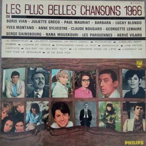Les Plus Belles Chansons 1966 Lp 33t Compilation Vinyle