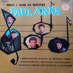 Paul Anka – Songs I Wish I'd Written Lp 33t Vinyle