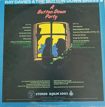 Ray Davies & The Button Down Brass – A Button Down Party Lp 33t Vinyle