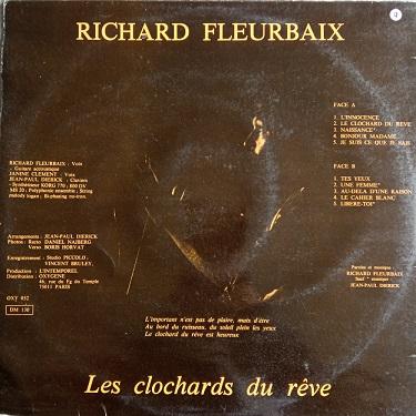 Richard Fleurbaix – Les Clochards Du Rêve Lp 33t Vinyle