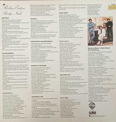 Robin Eaton – Rusty Nails Lp 33t Vinyle